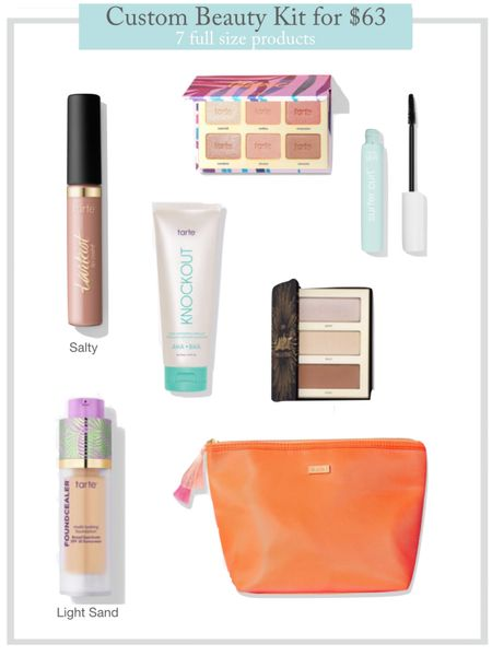 Tarte build your own custom beauty kit for $63. 6 full size products, plus a makeup bag   #LTKsalealert #LTKunder100 #LTKbeauty