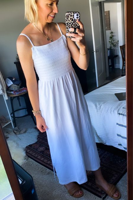 http://liketk.it/3gUdm #liketkit @liketoknow.it  The perfect white dress for the heat of summer! Also comes in Tall sizes…I got my normal size small (in a tall). #LTKunder50 #LTKstyletip #LTKtravel