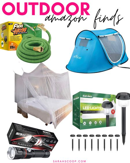Here are some awesome Outdoor Amazon finds! 🏕  #flexihose#signature#garden#solar#lights#LumiNRG#tacticalflashlight#netting#EvenNaturals#mosquitonetting#AbcoTech#Popup#tent#popuptent#outdoor#camping#amazon#amazonfinds#outdoorfinds  #LTKunder50 #LTKhome #LTKSeasonal