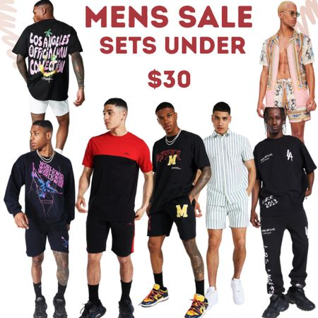 Men's fashion sets under $30 Shorts pants and joggers paired with tee's tanks and hoodies.    #LTKmens #LTKsalealert #LTKunder50