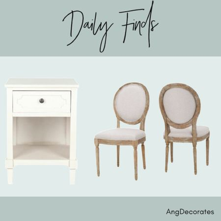 Daily Finds: An affordable nightstand and dining chairs  #LTKhome