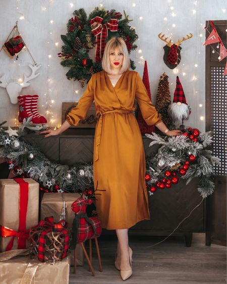 Satin dress festive style  http://liketk.it/2IpZp #liketkit @liketoknow.it #LTKholidaystyle #LTKeurope #LTKfamily