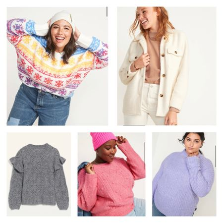 So many adorable sweaters on sale for 50% off!