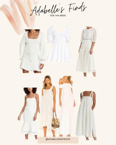 Bride wedding white dress   #LTKwedding #LTKunder100 #LTKstyletip