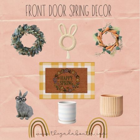 Front door spring decor ☀️🌸 http://liketk.it/3asgh #liketkit @liketoknow.it #LTKSeasonal #LTKhome #LTKunder100 Shop your screenshot of this pic with the LIKEtoKNOW.it shopping app 😍