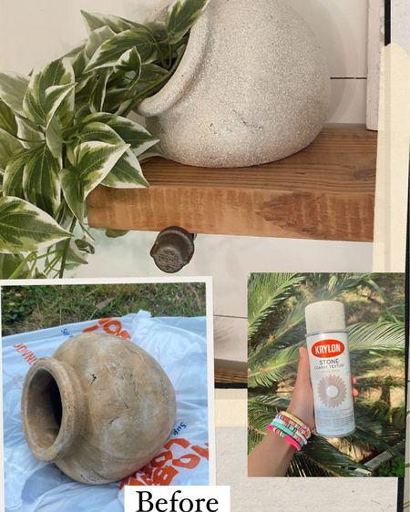It's official.... I'm spraying everything in this white onyx stone spray paint! http://liketk.it/3g0kP @liketoknow.it #liketkit #LTKhome #LTKstyletip #LTKunder50 #pottery #homedecor #vase