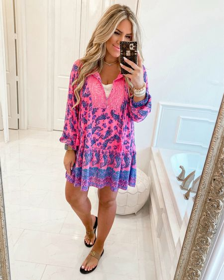 Wearing a medium http://liketk.it/3fcfF #liketkit @liketoknow.it #LTKunder50 #LTKswim #pink #blue #genderreveal #sundress #walmartfashion #walmart