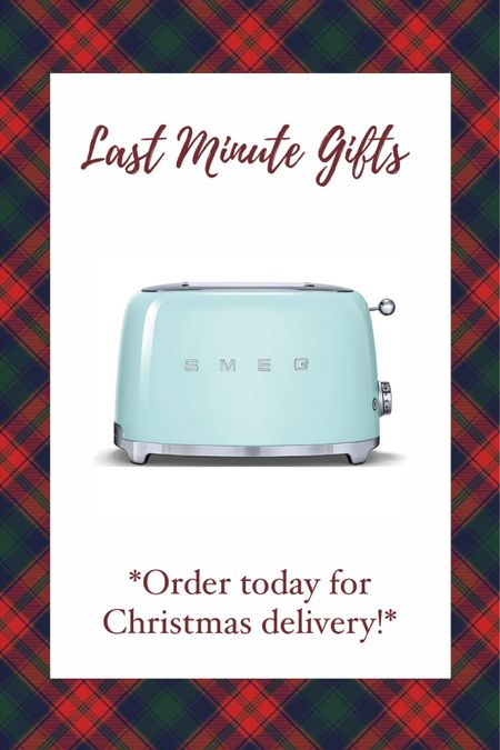 Last minute Christmas gift ideas under $200! Order TODAY for guaranteed Christmas delivery! This SMEG toaster from Nordstrom is a great gift idea for a homeowner! Gift guide- gift ideas #liketkit #LTKgiftspo @liketoknow.it http://liketk.it/34fpS