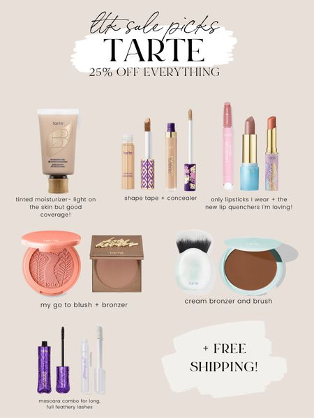 Tarte makeup sale - 25% off evwrything! This is what I use daily   #LTKbeauty #LTKSale #LTKunder50