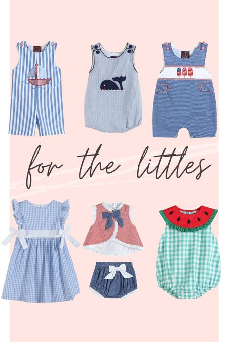 The cutest little outfits for babes! Especially with the Fourth of July coming up! I love these options! Smocked baby clothes, toddler clothes, baby fashionistas   #LTKbaby #LTKfamily #LTKSeasonal