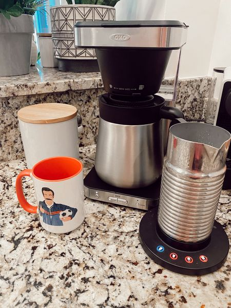 Coffee maker, milk frother, and Ted Lasso mug. All great gifts!  #LTKhome