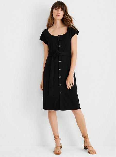 Update 9/9/21: This dress is very fitted. I would need to size up for a body skimming fit. | Now $54.99 with code LABORDAY. Just ordered this LBD in my usual size XS petite.   #LTKworkwear #LTKunder100 #LTKsalealert