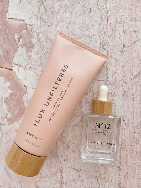 The best self tanning duo out there! This Lux Unfiltered self tanning cream is perfect for hydration and color! And these face drops you can add to your favorite face moisturizer for a natural looking glow!     #LTKbeauty