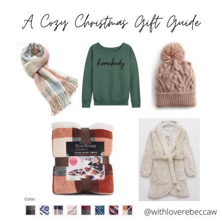 http://liketk.it/33YSc #liketkit @liketoknow.it A cozy Christmas gift guide! Sherpa robe, blanket wrap, homebody sweatshirt, winter beanie and plush throw blanket!