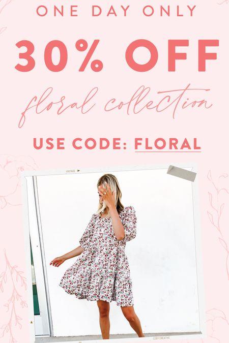 Today only! Floral is in!  http://liketk.it/3iJVA @liketoknow.it #liketkit #LTKstyletip #LTKsalealert #LTKwedding Download the LIKEtoKNOW.it shopping app to shop this pic via screenshot