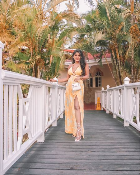Happy Monday! These rainy days have me missing the tropical vibes of puerto plata 🌴 How cute is this cut out maxi dress with a slit? Perfect for vacation, under $30  . . Shop the look 1️⃣ http://liketk.it/3k2We  2️⃣ link in bio   #liketkit #LTKunder50 #LTKstyletip #LTKsalealert #amazonfashion #amazoninfluencer #founditonamazon @liketoknow.it