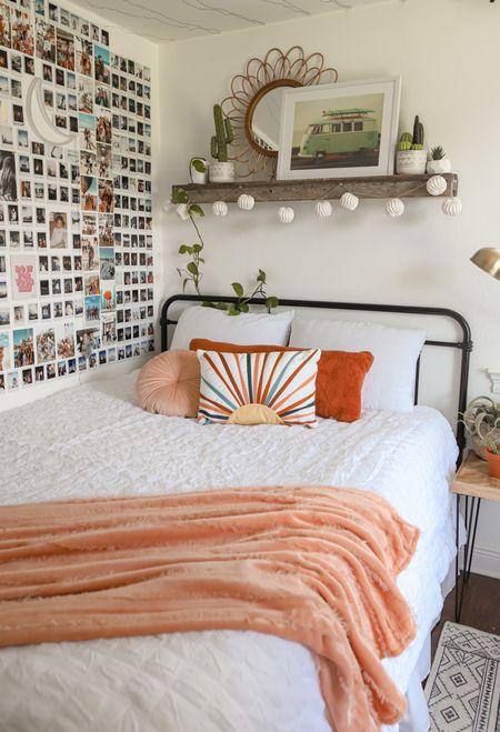 Room decor on a budget @JCPenney!!  Love this white comforter set + throw pillows! #AllAtJCP  #LTKunder50 #LTKhome #LTKSeasonal