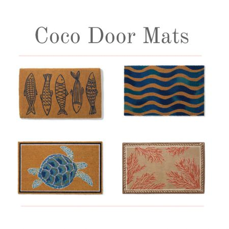 Add Summer style to your entrance with a beachy coco door mat. . Coco door mats are durable and make a beautiful addition to your home entryway and entry rugs will protect your floor from mud, dirt, and debris.   #kimbentley #homedecor  #LTKDay #LTKhome #LTKSeasonal