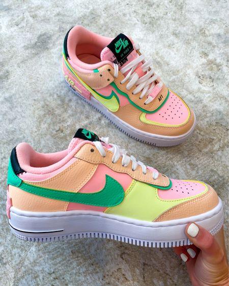 Nike Air Force 1 Shadow! LOVE the rainbow sherbet colors  http://liketk.it/3hdbt @liketoknow.it #liketkit #LTKshoecrush