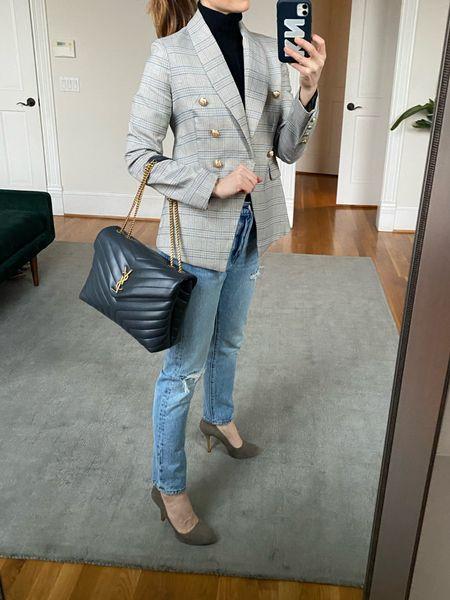Work style, ysl bag, blazer look, finishing beauty mom, Nordstrom, back to work, work bag  #LTKitbag #LTKworkwear #LTKstyletip