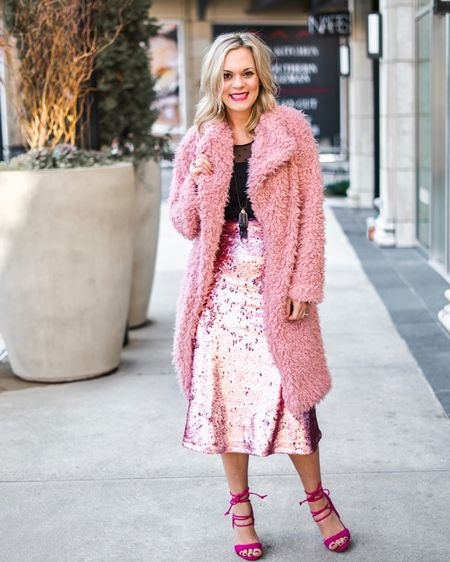 50 shades of #pink! Same fabulous coat, different #sassy look. Valentine's Day is around the corner & I've got the perfect look for your date night or #galentines. {Note: these shoes & skirt are oldies but don't fret because I've linked similar ones!}    Follow me on the LIKEtoKNOW.it app to get the product details for this look and others!    http://liketk.it/2zGh0 #liketkit @liketoknow.it #LTKsalealert #LTKshoecrush #LTKstyletip #LTKunder50 #LTKunder100