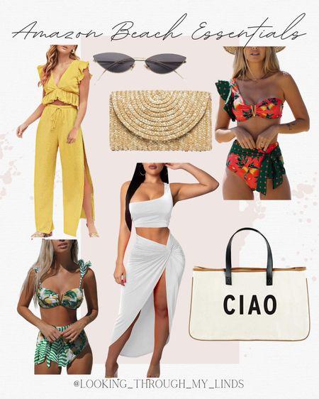 Amazon Fashion   amazon find   amazon swimsuit   amazon bikini   sunglasses   white dress   beach vacation   vacation outfits   beach tote   beach bag   #LTKswim #LTKitbag #LTKtravel