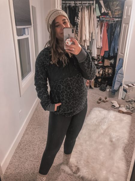 Am I a soccer mom yet? Saturday morning soccer run look linked! Pullover is on sale and I linked an exact dupe! Also these leggings are fleece lined and from Amazon!   #LTKsalealert #LTKSeasonal #LTKstyletip