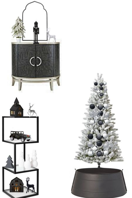 Just picked up Target Christmas decor, all under $40! ❤️ This years theme is a black and white Christmas   #LTKHoliday