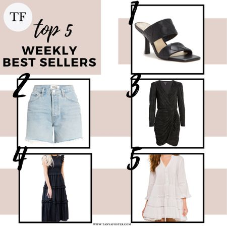 Top 5 best sellers on Tanya Foster blog! Shoes under $100, black dress under $50 and black midi dress & white dress under $100!     #LTKshoecrush #LTKunder100 #LTKunder50