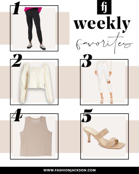 Best sellers from this week! Black lululemon joggers (tts), linen summer top (tts), white ripped jeans (tts), tan yoga tank (tts), tan heeled sandals (tts), #summeroutfit #activewear #sandals http://liketk.it/3hrL8 #liketkit @liketoknow.it #LTKfit #LTKunder100 #LTKstyletip