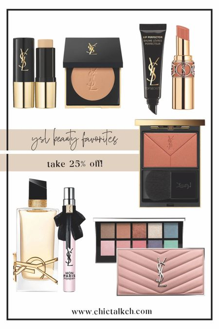 Take 25% off YSL beauty!! Eye shadow palette, bronzer, lipstick, lip balm, perfume, ysl perfume  #LTKbeauty #LTKunder100 #LTKSale