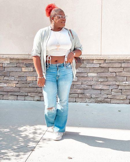 Obsessed with American Eagle jeans. Select styles 20% off. I wear I size 12 regular.  #LTKsalealert #LTKcurves #LTKstyletip