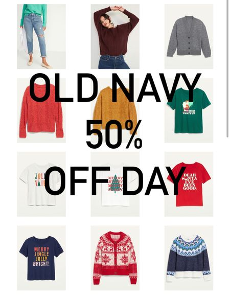 HURRY!! Old Navy 50% off today!    #LTKHoliday #LTKGiftGuide #LTKSeasonal