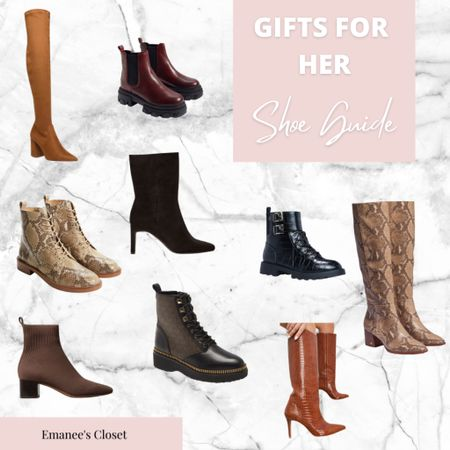 Every lady loves boots for the holidays! Find out what boots are trending for her! #giftguide #giftguideforher   #LTKgiftspo