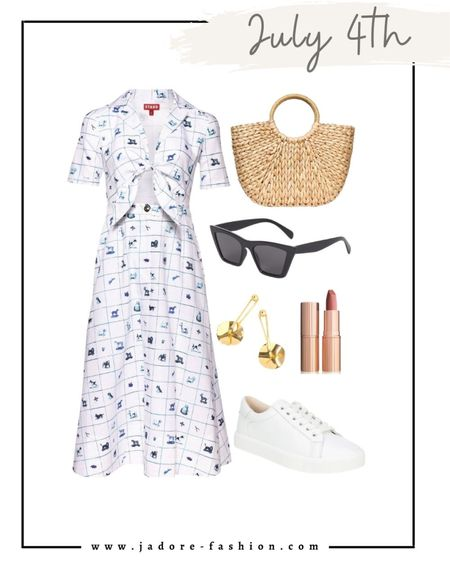 Summer dress and look perfect for July forth holiday! #july4th  #LTKstyletip #LTKunder100 #LTKSeasonal