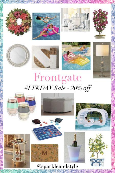 LTK Day Sale: Frontgate - 20% off   http://liketk.it/3hqBI @liketoknow.it #liketkit #LTKDay #LTKsalealert #LTKhome   Home decor, floral wreath, pool floaties, bathroom set, home plants, home trees, mirror, charcuterie boards, table lamp, drink glasses, ottomen, pool games, bar cart, drink cart, door mat, wine cooler, lemon tree