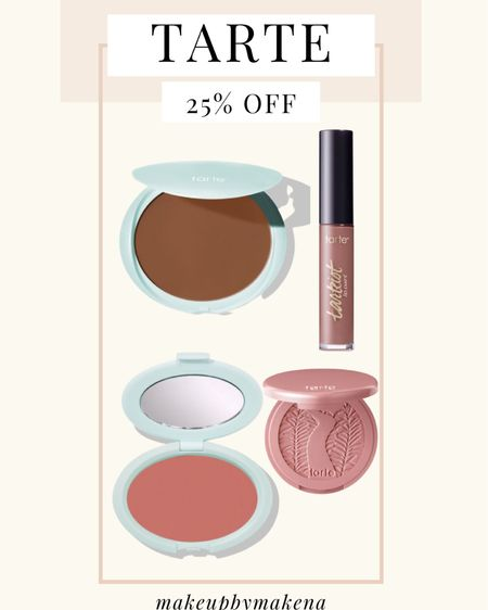 http://liketk.it/3cCdX #liketkit @liketoknow.it #LTKSpringSale #LTKbeauty #LTKsalealert Get 25% off and free shipping on the entire Tarte website, including these cream bronzers, blushes, and liquid lipsticks, this weekend for the LTK Spring Sale!