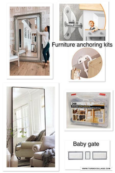 Some of my favorite baby proofing products! My full length mirror is sold out but I have linked some similar ones! Furniture  Gate Amazon finds   #LTKbaby #LTKfamily #LTKhome