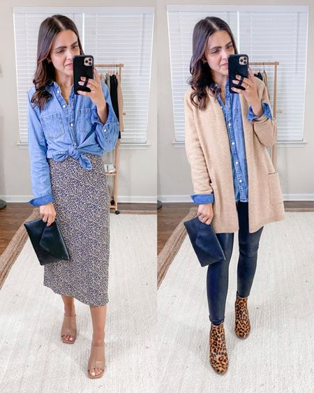 FALL ESSENTIALS: CHAMBRAY SHIRT //looks like denim, goes with nearly every color, and is incredibly comfortable — worn year round + one of my very favorites! Which is your favorite way to wear it?   #LTKSeasonal #LTKunder100 #LTKstyletip