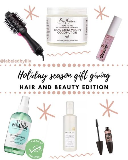 happy gifting season!! tagged below are my favorite beauty and hair care items 🤩 be sure to check out these sales before they are gone!  #labeledbylily #maybelline #revlon #isleofparadise #selftanner #glossier #kristeness #haircare #giftingseason #giftgiving #presents http://liketk.it/31Q0b #liketkit @liketoknow.it