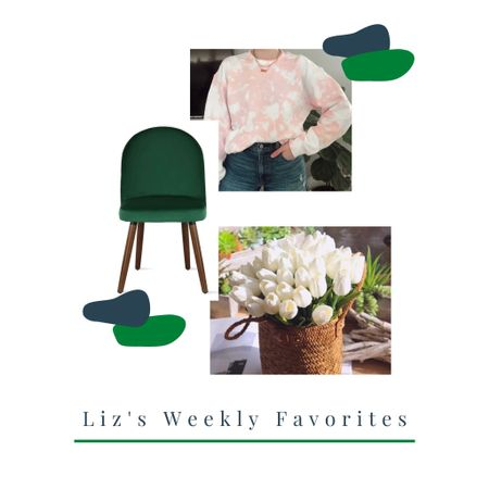 My favorites for this week include the green chairs I use in my office, one of my favorite shirts, and the tulips I have been OBSESSED with lately for styling my DIY's. http://liketk.it/3aCri #liketkit @liketoknow.it