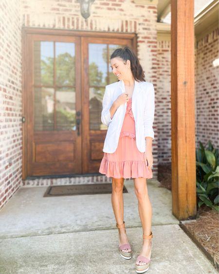 White blazer + sundresses + espadrille wedges http://liketk.it/3cNVI #liketkit #LTKstyletip #LTKshoecrush #LTKunder100 @liketoknow.it