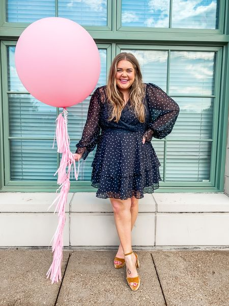 Birthday dress. Wedding guest dress. Velvet platforms. Plus size outfit. Dress is true to size   #LTKcurves #LTKunder100