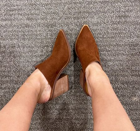 These mules are under $30!! They fit true to size and are great for fall. They come in multiple colors.  : : : Nordstrom shoes - Nordstrom sale - mules - western mules - women's fall shoes  #LTKunder50 #LTKshoecrush