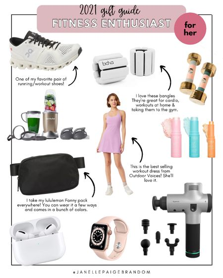 All the best fitness gifts she could ever want! From the best running shoes to aftercare must haves    #LTKHoliday #LTKGiftGuide #LTKfit