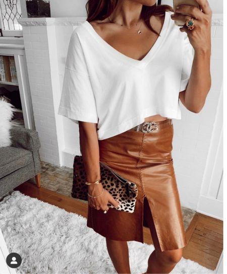Shopshalicenoel tee, similar skirt!  #LTKstyletip #LTKSeasonal