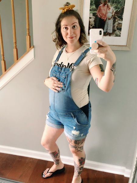 The cutest maternity overalls are on sale for $30!!! 😍 Comes in three colors and lasted me through my entire last pregnancy and now this pregnancy!   #LTKfamily #LTKbaby #LTKbump
