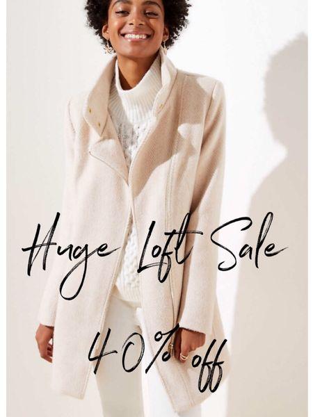 Huge Loft sale - 40% off on selected items. - winter coat, poncho, kimono, jacket, blazer, cold weather  http://liketk.it/2GAIq #liketkit @liketoknow.it   #LTKsalealert #LTKunder100 #LTKworkwear