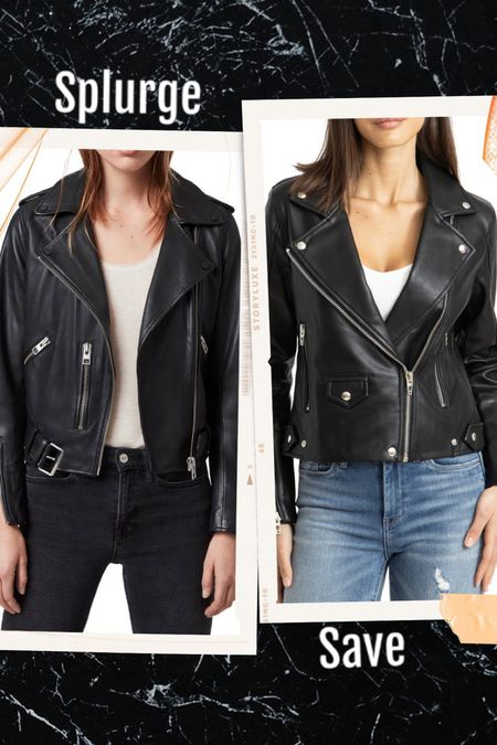A leather jacket is a must have in everyone's closet IMO. It really does elevate any outfit. Whether you can splurge for one or need to save money, I got you! Here are my top two choices. I have both and can say I love them each. Both on sale from the Nordstrom anniversary sale! ⚡️ Trust me, both will sell out! I sized up for a looser boyfriend fit. #nsale  #howtostyle #wiwt #motojacket #bikerjacket #leatherjacket #casualchic #edgyfashion #effortlesschic #musthave #fallfashion #fallstyle #falloutfits #summerstyle #falljacket #leatherweather #thestylizt      #LTKsalealert #LTKunder100 #LTKstyletip