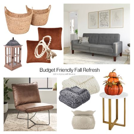 • BUDGET FRIENDLY FALL REFRESH •   Nothing over $400! That includes this beautiful @betterhomesandgardens convertible sofa!   Does anything catch your eye? I'm really thinking about that  minimalist leather chair!  Some Of these things are on clearance and not expected to be restocked, so if you see something you want, grab it fast!     #LTKhome #LTKSeasonal #LTKsalealert